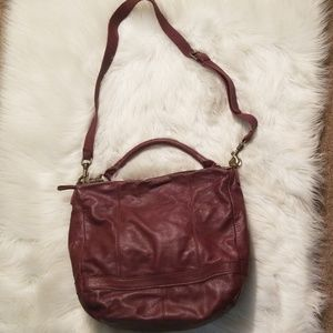 Liebeskind Bordeaux leather handbag